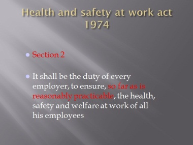 Health and safety at work courses