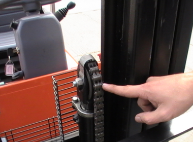 Examine All Visible Parts Of The Lift Chains